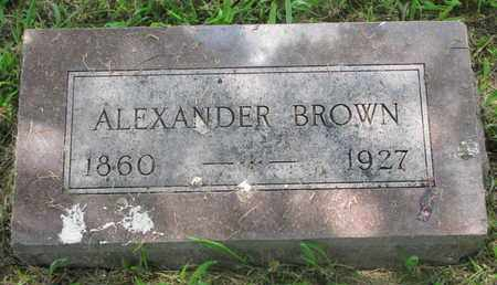 BROWN, ALEXANDER - Bon Homme County, South Dakota | ALEXANDER BROWN - South Dakota Gravestone Photos