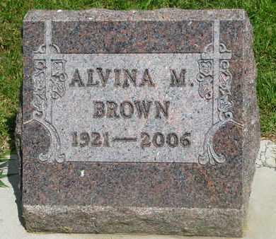 BROWN, ALVINA M. - Bon Homme County, South Dakota   ALVINA M. BROWN - South Dakota Gravestone Photos