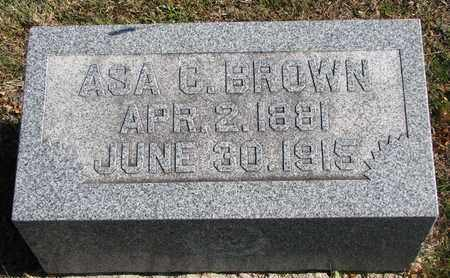 BROWN, ASA C. - Bon Homme County, South Dakota | ASA C. BROWN - South Dakota Gravestone Photos