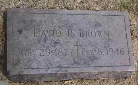 BROWN, DAVID R. - Bon Homme County, South Dakota   DAVID R. BROWN - South Dakota Gravestone Photos
