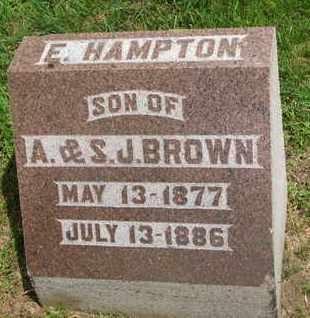BROWN, E. HAMPTON - Bon Homme County, South Dakota | E. HAMPTON BROWN - South Dakota Gravestone Photos