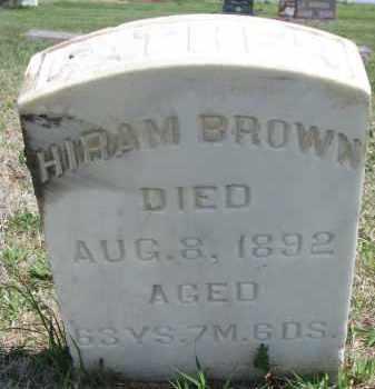 BROWN, HIRAM - Bon Homme County, South Dakota   HIRAM BROWN - South Dakota Gravestone Photos
