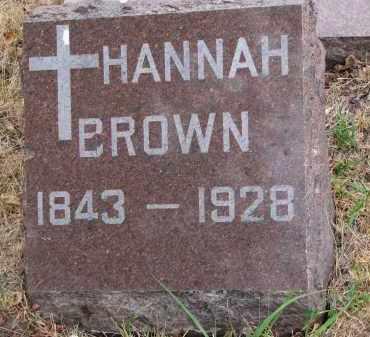 BROWN, HANNAH - Bon Homme County, South Dakota | HANNAH BROWN - South Dakota Gravestone Photos