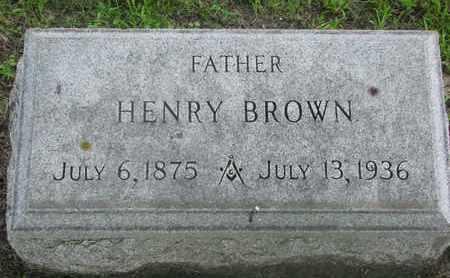 BROWN, HENRY - Bon Homme County, South Dakota | HENRY BROWN - South Dakota Gravestone Photos
