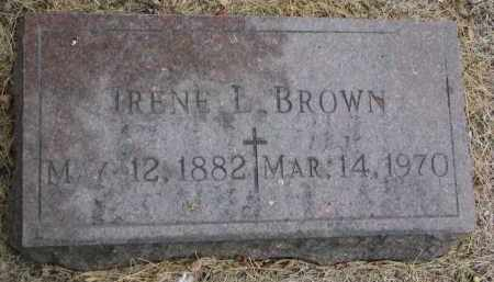 BROWN, IRENE L. - Bon Homme County, South Dakota | IRENE L. BROWN - South Dakota Gravestone Photos