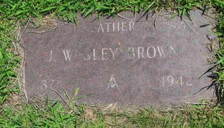BROWN, J. WESLEY - Bon Homme County, South Dakota | J. WESLEY BROWN - South Dakota Gravestone Photos