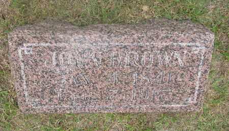 BROWN, JOHN - Bon Homme County, South Dakota | JOHN BROWN - South Dakota Gravestone Photos