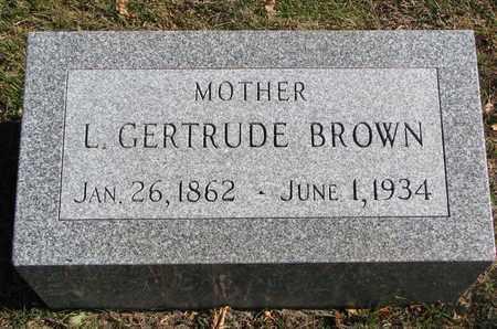 BROWN, L. GERTRUDE - Bon Homme County, South Dakota | L. GERTRUDE BROWN - South Dakota Gravestone Photos