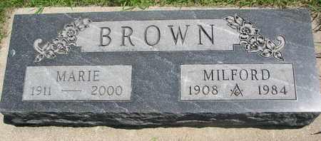 BROWN, MILFORD - Bon Homme County, South Dakota | MILFORD BROWN - South Dakota Gravestone Photos