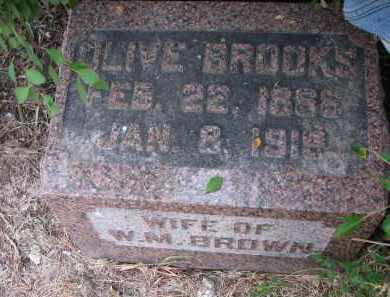 BROOKS BROWN, OLIVE - Bon Homme County, South Dakota | OLIVE BROOKS BROWN - South Dakota Gravestone Photos