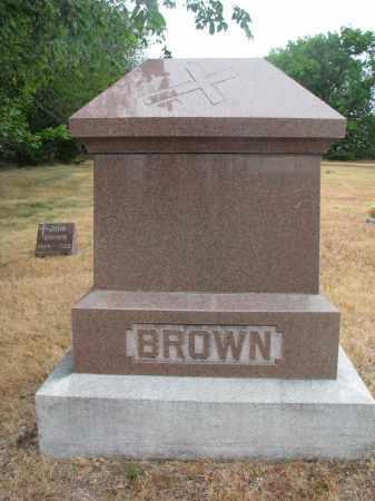 BROWN, PLOT STONE - Bon Homme County, South Dakota | PLOT STONE BROWN - South Dakota Gravestone Photos