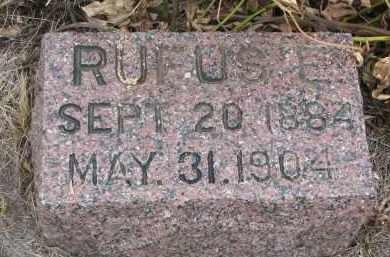 BROWN, RUFUS E. - Bon Homme County, South Dakota | RUFUS E. BROWN - South Dakota Gravestone Photos