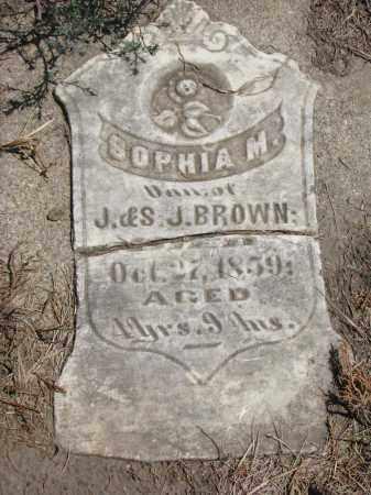 BROWN, SOPHIA M. - Bon Homme County, South Dakota | SOPHIA M. BROWN - South Dakota Gravestone Photos