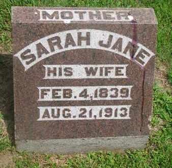 BROWN, SARAH JANE - Bon Homme County, South Dakota | SARAH JANE BROWN - South Dakota Gravestone Photos