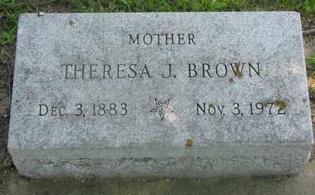 BROWN, THERESA J. - Bon Homme County, South Dakota | THERESA J. BROWN - South Dakota Gravestone Photos