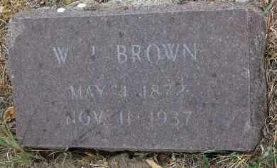 BROWN, W.J. - Bon Homme County, South Dakota   W.J. BROWN - South Dakota Gravestone Photos