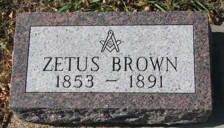 BROWN, ZETUS (NEW STONE) - Bon Homme County, South Dakota | ZETUS (NEW STONE) BROWN - South Dakota Gravestone Photos