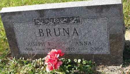 BRUNA, JOSEPH F. - Bon Homme County, South Dakota   JOSEPH F. BRUNA - South Dakota Gravestone Photos