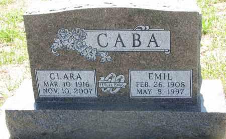 CABA, EMIL - Bon Homme County, South Dakota | EMIL CABA - South Dakota Gravestone Photos
