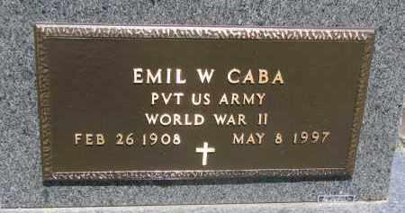 CABA, EMIL W. (WW II) - Bon Homme County, South Dakota | EMIL W. (WW II) CABA - South Dakota Gravestone Photos