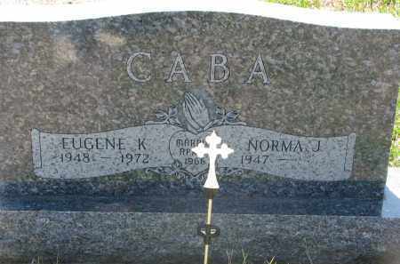 CABA, NORMA J. - Bon Homme County, South Dakota | NORMA J. CABA - South Dakota Gravestone Photos