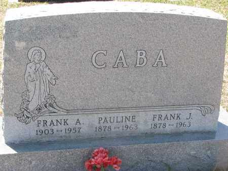 CABA, PAULINE - Bon Homme County, South Dakota | PAULINE CABA - South Dakota Gravestone Photos