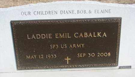 CABALKA, LADDIE EMIL (MILITARY) - Bon Homme County, South Dakota | LADDIE EMIL (MILITARY) CABALKA - South Dakota Gravestone Photos
