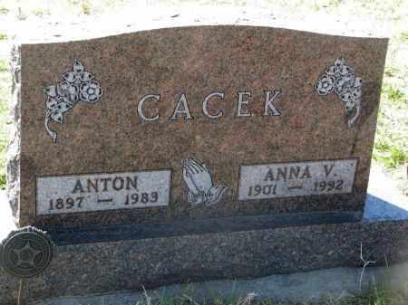 CACEK, ANTON - Bon Homme County, South Dakota | ANTON CACEK - South Dakota Gravestone Photos
