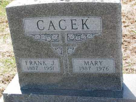 CACEK, MARY - Bon Homme County, South Dakota | MARY CACEK - South Dakota Gravestone Photos