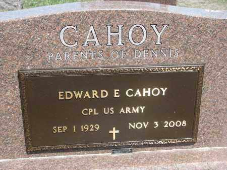 CAHOY, EDWARD E. (MILITARY) - Bon Homme County, South Dakota | EDWARD E. (MILITARY) CAHOY - South Dakota Gravestone Photos