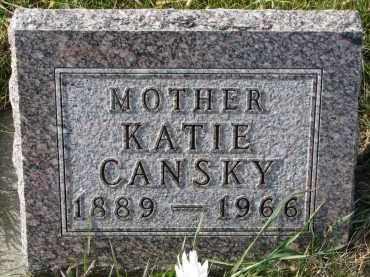 CANSKY, KATIE - Bon Homme County, South Dakota | KATIE CANSKY - South Dakota Gravestone Photos