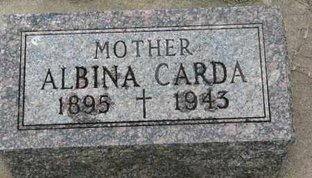 CARDA, ALBINA - Bon Homme County, South Dakota | ALBINA CARDA - South Dakota Gravestone Photos