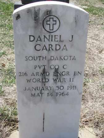 CARDA, DANIEL J. - Bon Homme County, South Dakota | DANIEL J. CARDA - South Dakota Gravestone Photos