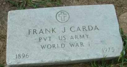 CARDA, FRANK J. - Bon Homme County, South Dakota   FRANK J. CARDA - South Dakota Gravestone Photos