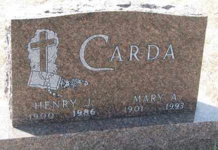 CARDA, HENRY J. - Bon Homme County, South Dakota | HENRY J. CARDA - South Dakota Gravestone Photos