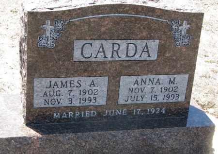 CARDA, JAMES A. - Bon Homme County, South Dakota | JAMES A. CARDA - South Dakota Gravestone Photos