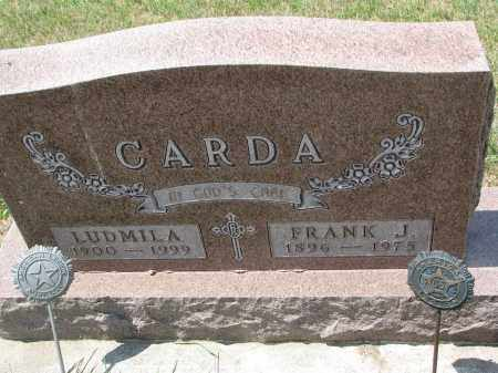 CARDA, FRANK J. - Bon Homme County, South Dakota | FRANK J. CARDA - South Dakota Gravestone Photos