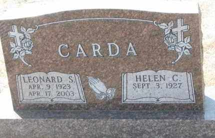 CARDA, LEONARD S. - Bon Homme County, South Dakota | LEONARD S. CARDA - South Dakota Gravestone Photos