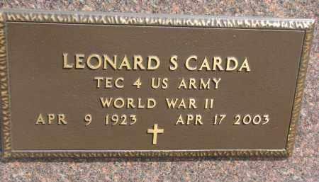 CARDA, LEONARD S. (WW II) - Bon Homme County, South Dakota | LEONARD S. (WW II) CARDA - South Dakota Gravestone Photos