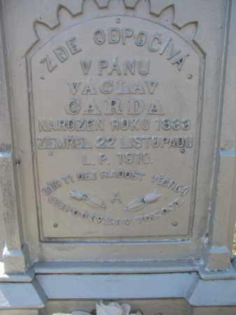 CARDA, VACLAV (CLOSEUP) - Bon Homme County, South Dakota   VACLAV (CLOSEUP) CARDA - South Dakota Gravestone Photos