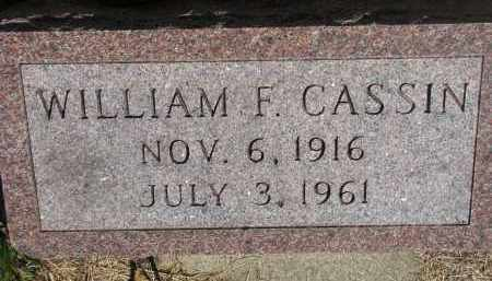 CASSIN, WILLIAM F. - Bon Homme County, South Dakota | WILLIAM F. CASSIN - South Dakota Gravestone Photos