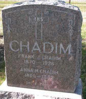 CHADIM, ANNA M. - Bon Homme County, South Dakota | ANNA M. CHADIM - South Dakota Gravestone Photos