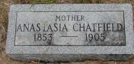 CHATFIELD, ANASTASIA - Bon Homme County, South Dakota | ANASTASIA CHATFIELD - South Dakota Gravestone Photos