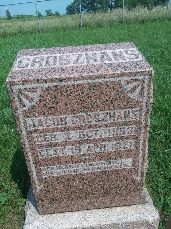 GROSZHANS, JACOB - Bon Homme County, South Dakota | JACOB GROSZHANS - South Dakota Gravestone Photos