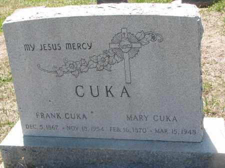 CUKA, FRANK - Bon Homme County, South Dakota   FRANK CUKA - South Dakota Gravestone Photos