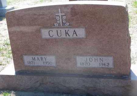 CUKA, MARY - Bon Homme County, South Dakota | MARY CUKA - South Dakota Gravestone Photos