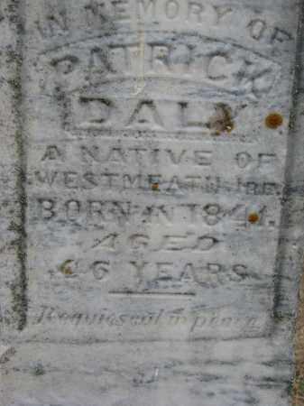 DALY, PATRICK (CLOSEUP) - Bon Homme County, South Dakota   PATRICK (CLOSEUP) DALY - South Dakota Gravestone Photos