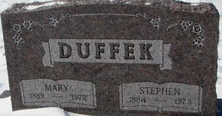 DUFFEK, MARY - Bon Homme County, South Dakota | MARY DUFFEK - South Dakota Gravestone Photos