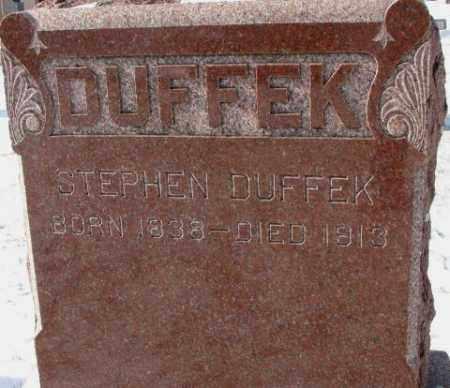 DUFFEK, STEPHEN - Bon Homme County, South Dakota   STEPHEN DUFFEK - South Dakota Gravestone Photos
