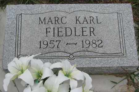 FIEDLER, MARC KARL - Bon Homme County, South Dakota | MARC KARL FIEDLER - South Dakota Gravestone Photos